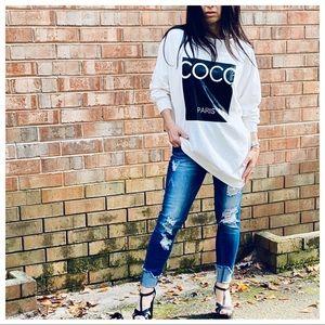 ✨PARIS✨Fabulous CoCo Paris chic sweatshirt
